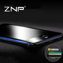 ZNP 4D (2nd Gen 3D) Full Cover Tempered Glass For iPhone 6 6s 6 s Plus 9H Screen Protector Film For iphone 6 plus Tempered Glass(China)