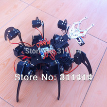 1set 20DOF Aluminium Hexapod Spider Six 3DOF Legs Robot Frame Kit + Clamp Set Fully Compatible With Arduino Retail + Free Ship(China)