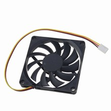 Gdstime 2pcs/lot CPU Cooler 80mm 8CM 3Pin 12V DC Brushless Silent Computer PC Case Cooling Fan 80x80x10mm