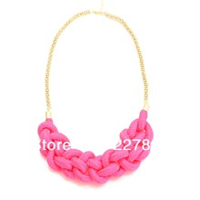 Body  Fashion  Wedding Accessories Neon Summer Knitted Necklace