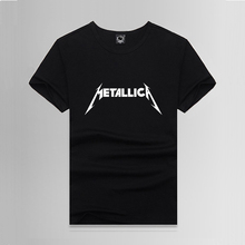Metal Music Metallica Print T shirt Male Tshirt Men Tee Shirts Anime Skateboard Palace Black 2017 Summer Clothing Harajuku