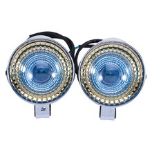 B35 1 Pair 12V Chrome Bullet Motorcycle Motorbike Scooters Spot Light Fog Light Headlight Lamp For Harley 2016
