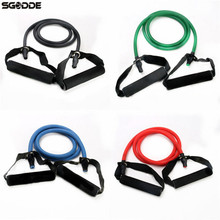 Buy New Arrival Resistance Belt Stretch Fitness Pilates Sports Exercise Latex Tube Cable Yoga Pratical Gym Workout Resistance Bands for $5.12 in AliExpress store