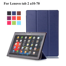 For Lenovo Tab3 X70L X70F Case Cover Tablet for Lenovo Tab 2 A10-70 A10-70F A10-70L Tablet 10.1 PU Leather Case+Film+Stylus Pen