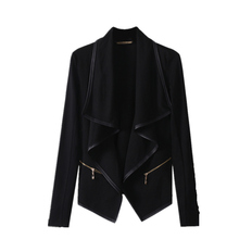Fashion Women Retro Zipper Jacket Irregular Plus Size Open Stitch Woman Jakets Spring Outwear(China)