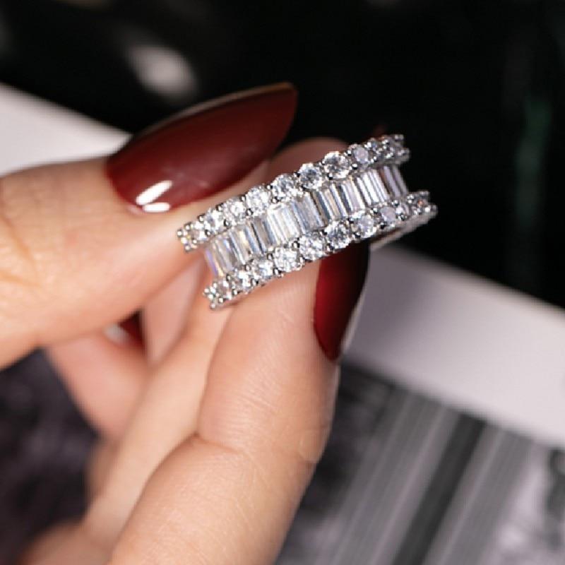 8 Ct Cushion Cut Cz 925 Silver Engagement Bridal Cocktail Ring Sz 6-7-8-9