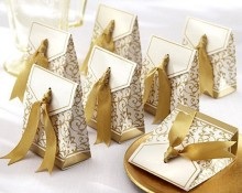 Free Shipping 100pcs Gold Wedding Favor Boxes Wedding Candy Box Casamento Wedding Favors And Gifts Event & Party Supplies