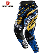 SCOYCO Motorcycle Pants Motocross Off-Road Racing Pants Breathable Dirt Bike MTB DH MX Riding Hip Pads Trousers Clothing(China)