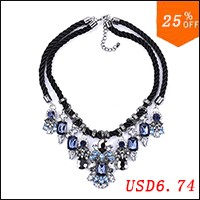 PPG-PGG-Blue-Rhinestone-Black-Rope-Crystal-Choker-Statement-Necklace-Women-Dress-Jewelry