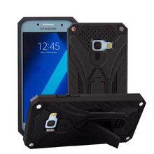 For Samsung Galaxy A3 2017 Case phantom knight Armor Stand Hard Rugged Cover Silicon Phone Case for Samsung A3 2017 A320 Funda(China)