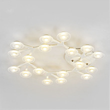 Post Modern Creative Industrial Lamp Iron PMMA LED Chandeliers Warm White Light Clusters of Stars for bedroom round lamps