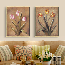 European Style Flower Painting Lily Floral Canvas Oil Paint Wall Picture Home Decoration Wall Art Prints for Living Room no Fram