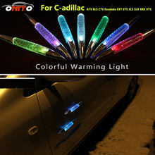 Solar burst flash warning lights shark fin anti rub anti collision Lamps door Colorful car led light for ATS BLS CTS Escalade