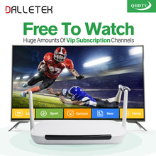 Dalletektv Android IPTV Set Top Box Tv Receiver 1300+ Arabic iptv Europe French Sport HD IPTV Subscription 1 Year QHDTV Account