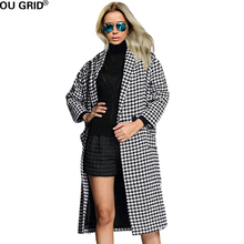 Wool Women's Knitted Sweater Coat Gray 2016 Winter Autumn Slim Single Button Turn-down Collar Long Sleeve Casual Dress Coat