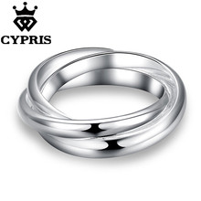 11.11 SUPER DEAL Hot Promotion Fashion silver Ring Linkage Neutral Party Wholesale Price Free Ship CYPRIS jewelry(China)