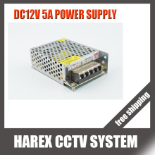 DC 12V 5A 60W Power Supply Adaptor for CCTV Camera CCTV System 12V Security professional Converter Adapter free shipping
