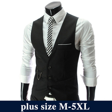 2017 Fashion Suit Vest Men Hot Sale Formal Dress Vest Brand Clothing Quality Fitness Business Sleeveless Jacket Waistcoat Men(China)