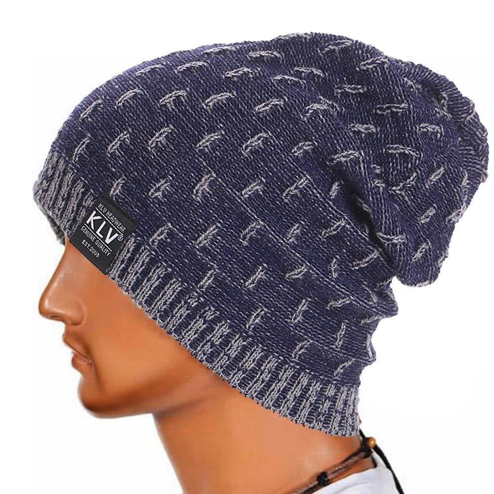 Men Warm Crochet Winter Wool Knit Ski Beanie Skull cap winter hat bone Beanie hats for women winter hats for women pokemon caps Îäåæäà è àêñåññóàðû<br><br><br>Aliexpress