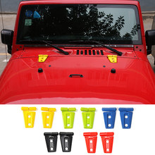 MOPAI Best Quality ABS Exterior Decoration Engine Hood Hinge Cover Sticker Fit For Jeep Wrangler 2007 Up Car Styling(China)