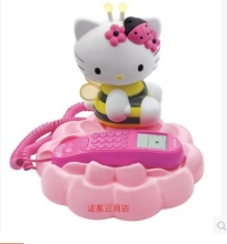 Hello kittY Fashion cute Antique telephones Cartoon Caller ID
