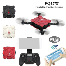 FQ777 FQ17W Selfie Drone 6-Axis Gyro Mini Wifi FPV Foldable G-sensor Pocket Drone with 0.3MP Camera Altitude Hold RC Quadcopter(China)