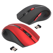 HXSJ Ergonomic Optical Office 2.4G Wireless Gaming Mouse Mice Adjustable 2400 DPI with 6 Buttons for Laptop PC Notebook Computer