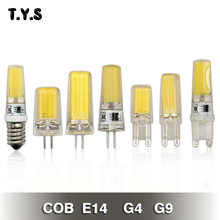 G4 G9 LED Lamp AC 220V COB LED E14 Bulb 9W 6W LED COB Light Energy Saving Lamp 360 Beam Angle Chandelier Lights Replace Halogen(China)