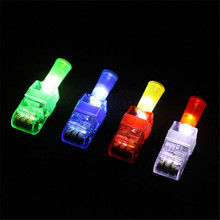 New Projective Lighting Finger Lights Projection Lights Light Up Toy Glowing Toys Random Deliverey(China)