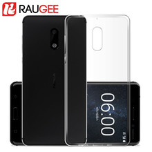 Raugee Newest Superthin TPU Silicon Case For 5.5inch Nokia 6 Smart Phone Clear Back Cover Soft Protective Case for nokia 6