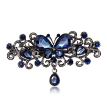 Fashion Hair Clips Accessories Plated clips Hair Accessories Pin Ponytail Rhinestone Hair/clips Jewelry Women(China)