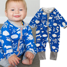 Winter Baby Clothes Boys Girls Romper Infant Toddler Jumpsuit 2018 New Wear Pajamas Sleepers Overalls Outfits Baby Clothing(China)