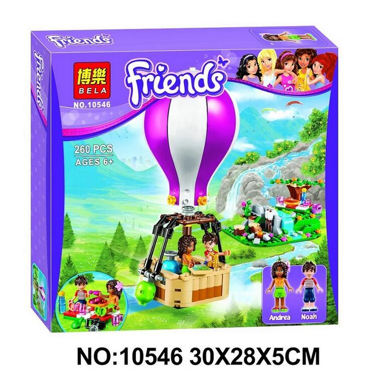 BELA 10546 girl Friends Heartlake Hot Air Balloon figures Building Blocks DIY Bricks toys Gift Compatible With Lepin 41097<br><br>Aliexpress