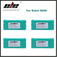 4 PCS Eleoption 14.4V 2000mAh Ni-MH Replacement Vacuum Robot Battery For Dirt Devil Libero M606,0606004(China)