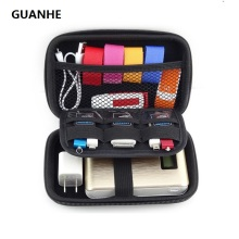 "GUANHE Waterproof Leather Hand Carry hard Drive Enclosures Bag Case Cover Compartments for 2.5"" HDD Hard Disk,Mobile Power bank"