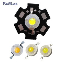 50Pcs ReBlue 3W Led Diode Bridgelux Chip 45 Mil White Led Light Beads High Power 3000K 4000K 6000K 10000K 20mm PCB Power Led
