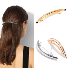 Buy LNRRABC Women Elegant New Golden Silvery Cool Style ARC Tube Hairpin Hair Clips Barrette Fashion Hairgrips Hair Accessories for $1.04 in AliExpress store
