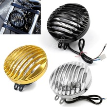 Sale Motorcycle Headlight Grill Cover Headlamp Replacement Driving Moto Fog Spot Light for Harley Sportster XL 883 1200 04-2014