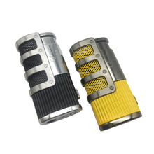 COHIBA Gridding Stripes Style Turbo Lighter Pocket Butane Gas Windproof Triple Torch Jet Flame Cigar Cigarette Lighter(China)