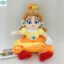 OHMETOY Super Mario Bros Princess Daisy Sitting Pose Soft Plush Doll 15cm Cute Girl Toy Gift Anime Juguetes(China)