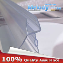 Plastic Rubber Bath Shower Screen Door Seal Strips 6-10mm Glass Door 10-17mm Gap length:700mm(China)