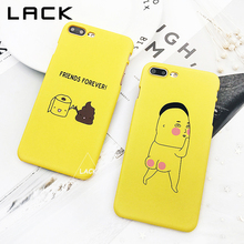 LACK Funny Character Phone Case For iphone 7 Case Fashion Hard Cover Cartoon Letter Cases For iphone 7 PLus Friends Forever(China)