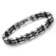 Hot Sale Wholesale Price Fashion Classic Black and Steel Color Titanium Steel Bracelet Delicate Bangle for Man or Women CT628(China)