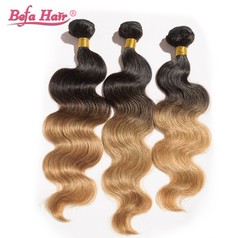 4pcs/lot high quality 16-24inch european human hair extensions body wave dyed ombre remy hair<br><br>Aliexpress