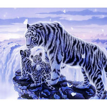 3D Diamond Embroidery Diy Diamond Painting White Tiger Picture Cross Stitch Home Decoration 5D Needlework Embroidery Diamonds