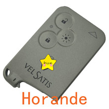 Replacement vel satis replacement smart remote control key cover case 3 button shell renault key card  fob