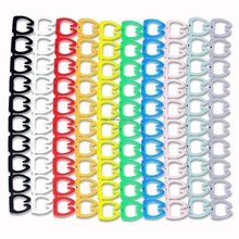 100PCS Cable Marker For 4 sqmm Colored Number 0 to 9 Each 10pcs Distinguish Wires Free Shipping