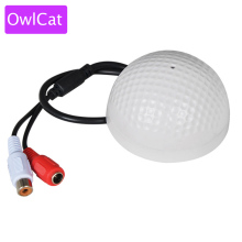 OwlCat Sound Monitor Audio Pickup Microphone for CCTV Video Surveillance Security Camera IP Cameras