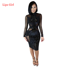 Women Black Sexy Lace Bandage Dress 2017 New Summer Style High Quality Celebrity Night Club Wear Bandage Party Dresses