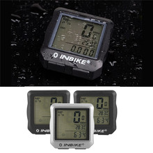 New 1.7 inch Wired LCD Digital Mountain Bike Computer Bicycle Speedometer Odometer Waterproof Bicycle Computer Stopwatch(China)